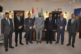 The President of the University of Technology receives a delegation from